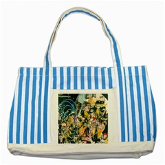 Art Graffiti Abstract Lines Striped Blue Tote Bag