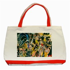 Art Graffiti Abstract Lines Classic Tote Bag (Red)
