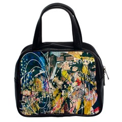 Art Graffiti Abstract Lines Classic Handbags (2 Sides)