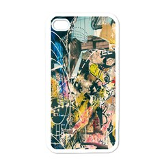Art Graffiti Abstract Lines Apple iPhone 4 Case (White)