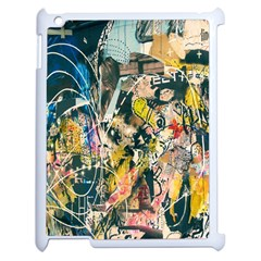 Art Graffiti Abstract Lines Apple iPad 2 Case (White)