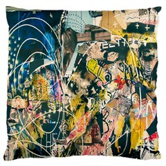 Art Graffiti Abstract Lines Large Cushion Case (One Side)