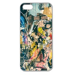 Art Graffiti Abstract Lines Apple Seamless iPhone 5 Case (Clear)