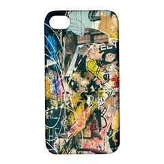 Art Graffiti Abstract Lines Apple iPhone 4/4S Hardshell Case with Stand