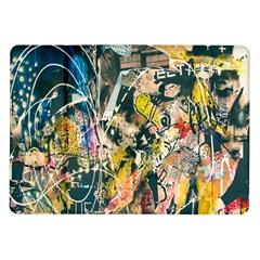 Art Graffiti Abstract Lines Samsung Galaxy Tab 10.1  P7500 Flip Case