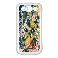Art Graffiti Abstract Lines Samsung Galaxy S3 Back Case (White)