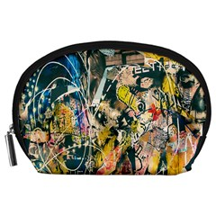 Art Graffiti Abstract Lines Accessory Pouches (Large)