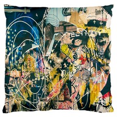 Art Graffiti Abstract Lines Standard Flano Cushion Case (Two Sides)