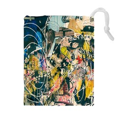 Art Graffiti Abstract Lines Drawstring Pouches (Extra Large)