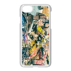 Art Graffiti Abstract Lines Apple Iphone 7 Seamless Case (white)