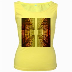 Architecture Facade Buildings Windows Women s Yellow Tank Top