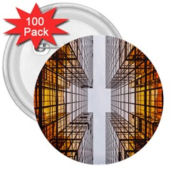 Architecture Facade Buildings Windows 3  Buttons (100 pack)