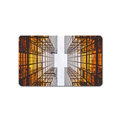 Architecture Facade Buildings Windows Magnet (Name Card)