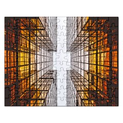 Architecture Facade Buildings Windows Rectangular Jigsaw Puzzl