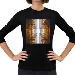 Architecture Facade Buildings Windows Women s Long Sleeve Dark T-Shirts