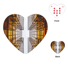 Architecture Facade Buildings Windows Playing Cards (Heart)