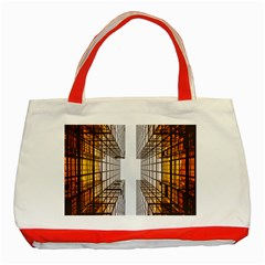 Architecture Facade Buildings Windows Classic Tote Bag (Red)