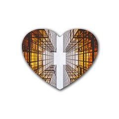 Architecture Facade Buildings Windows Heart Coaster (4 Pack)