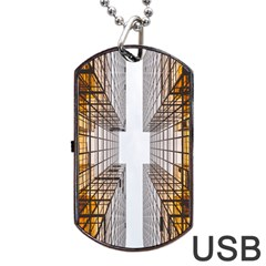 Architecture Facade Buildings Windows Dog Tag USB Flash (Two Sides)