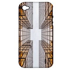 Architecture Facade Buildings Windows Apple iPhone 4/4S Hardshell Case (PC+Silicone)