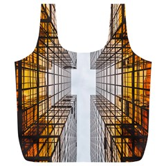 Architecture Facade Buildings Windows Full Print Recycle Bags (L)
