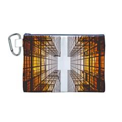 Architecture Facade Buildings Windows Canvas Cosmetic Bag (M)