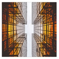 Architecture Facade Buildings Windows Large Satin Scarf (Square)