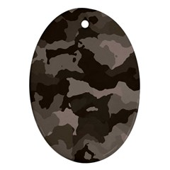 Background For Scrapbooking Or Other Camouflage Patterns Beige And Brown Ornament (Oval)