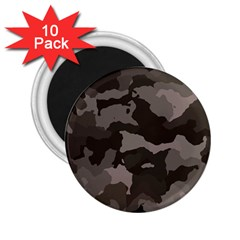 Background For Scrapbooking Or Other Camouflage Patterns Beige And Brown 2.25  Magnets (10 pack)