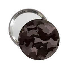 Background For Scrapbooking Or Other Camouflage Patterns Beige And Brown 2.25  Handbag Mirrors