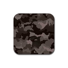 Background For Scrapbooking Or Other Camouflage Patterns Beige And Brown Rubber Square Coaster (4 pack)