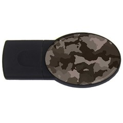 Background For Scrapbooking Or Other Camouflage Patterns Beige And Brown USB Flash Drive Oval (2 GB)