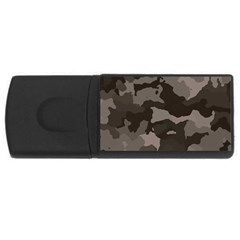 Background For Scrapbooking Or Other Camouflage Patterns Beige And Brown USB Flash Drive Rectangular (2 GB)