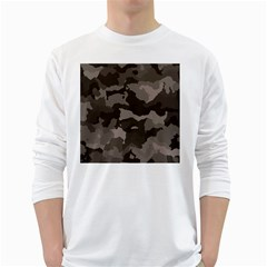 Background For Scrapbooking Or Other Camouflage Patterns Beige And Brown White Long Sleeve T-Shirts