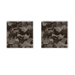 Background For Scrapbooking Or Other Camouflage Patterns Beige And Brown Cufflinks (Square)