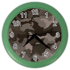 Background For Scrapbooking Or Other Camouflage Patterns Beige And Brown Color Wall Clocks