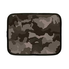 Background For Scrapbooking Or Other Camouflage Patterns Beige And Brown Netbook Case (Small)