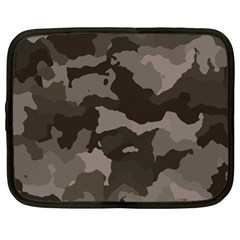 Background For Scrapbooking Or Other Camouflage Patterns Beige And Brown Netbook Case (Large)