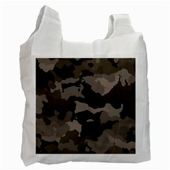Background For Scrapbooking Or Other Camouflage Patterns Beige And Brown Recycle Bag (Two Side)