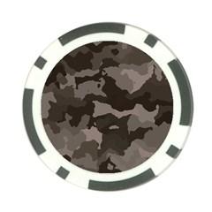 Background For Scrapbooking Or Other Camouflage Patterns Beige And Brown Poker Chip Card Guard (10 pack)