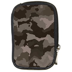 Background For Scrapbooking Or Other Camouflage Patterns Beige And Brown Compact Camera Cases