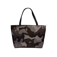 Background For Scrapbooking Or Other Camouflage Patterns Beige And Brown Shoulder Handbags
