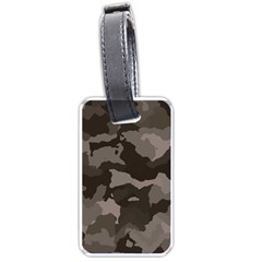 Background For Scrapbooking Or Other Camouflage Patterns Beige And Brown Luggage Tags (One Side)