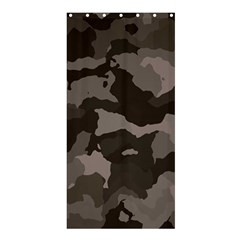 Background For Scrapbooking Or Other Camouflage Patterns Beige And Brown Shower Curtain 36  x 72  (Stall)