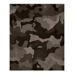Background For Scrapbooking Or Other Camouflage Patterns Beige And Brown Shower Curtain 60  x 72  (Medium)