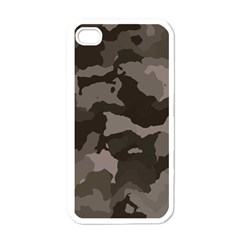 Background For Scrapbooking Or Other Camouflage Patterns Beige And Brown Apple iPhone 4 Case (White)
