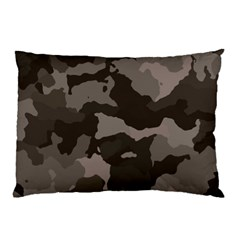 Background For Scrapbooking Or Other Camouflage Patterns Beige And Brown Pillow Case (Two Sides)