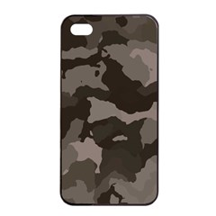 Background For Scrapbooking Or Other Camouflage Patterns Beige And Brown Apple Iphone 4/4s Seamless Case (black)