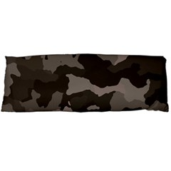 Background For Scrapbooking Or Other Camouflage Patterns Beige And Brown Body Pillow Case Dakimakura (two Sides)