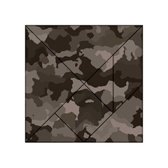 Background For Scrapbooking Or Other Camouflage Patterns Beige And Brown Acrylic Tangram Puzzle (4  x 4 )